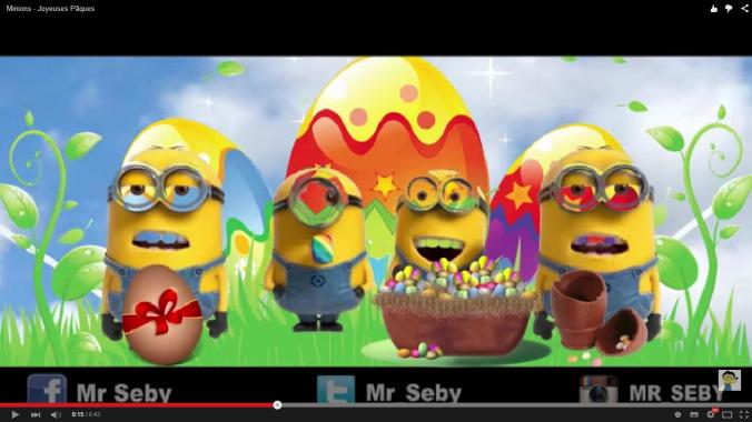 Les mignons vous souhaitent Joyeuses Pâques